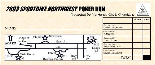 Poker run sign up sheet